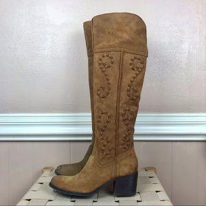 Carlos Santana over the knee boots